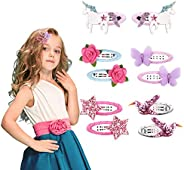 VCOSTORE Cute Hair Clips for Girls,Cartoon Colorful Metal Hair Clips Barrettes Snap Hairclips with Animals Cro