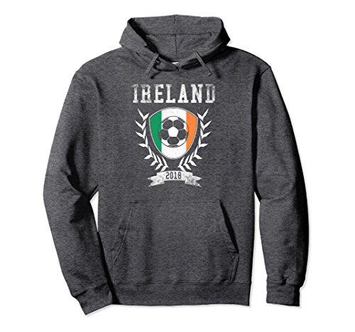 Unisex Irish Football 2018 Hoodie Ireland Soccer Jersey Medium Dark ()