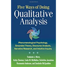 Five Ways of Doing Qualitative Analysis: Phenomenological Psychology, Grounded Theory, Discourse Analysis, Narrative Research, and Intuitive Inquiry