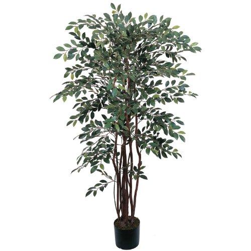 AWM Real Looking 4' Ruscus Silk Tree Green Colors - Silk Tree