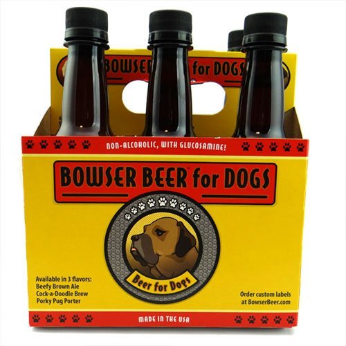 Bowser Beer for Dogs - Beef, Chicken & Pork Variety Pack (Pack of 6)