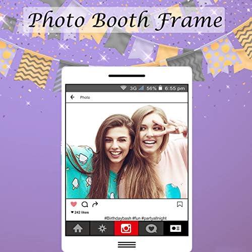 Grande Taille Fête Accessoires Selfie Insta-Photo Booth Cadre Enfants Party Fun À faire soi-même x1