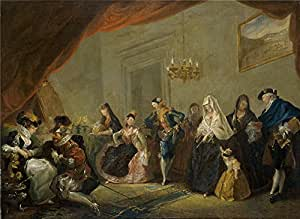 The high quality polyster Canvas of oil painting 'Paret y Alcazar Luis Ensayo de una comedia 1772 73 ' ,size: 10 x 14 inch / 25 x 35 cm ,this Cheap but High quality Art Decorative Art Decorative Prints on Canvas is fit for Game Room decoration and Home decor and Gifts