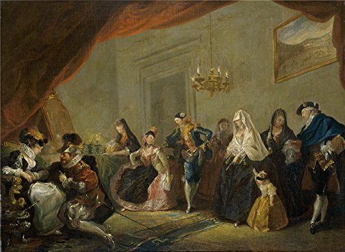 The Perfect Effect Canvas Of Oil Painting 'Paret Y Alcazar Luis Ensayo De Una Comedia 1772 73 ' ,size: 10 X 14 Inch / 25 X 35 Cm ,this High Quality Art Decorative Canvas Prints Is Fit For Gift For Bf And Gf And Home Decor And Gifts ()