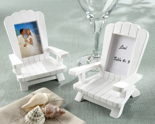 Kate Aspen Beach Memories Miniature Adirondack Chair Place Card/Photo Frame (2 Sets of 4, 8 pcs) - Perfect Table Décor or Party Favors for Weddings, Baby Showers, Bridal Showers or Birthday