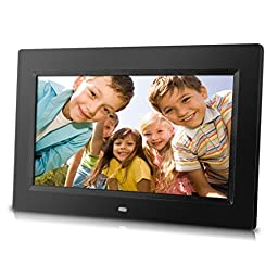 Sungale PF1025 10-Inch Digital Photo Frame with Hi-resolution, various transitional effects, slideshow, & interval time adjustment. Simply plug in a SD card or Flash Drive to access & display photos