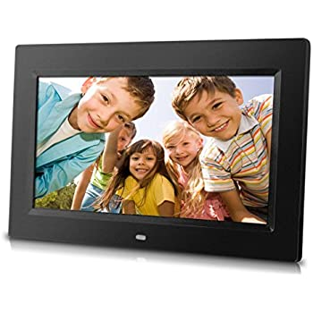 Sungale PF1025 10-Inch Digital Photo Frame with Hi-resolution, various transitional effects, slideshow, interval time adjustment.