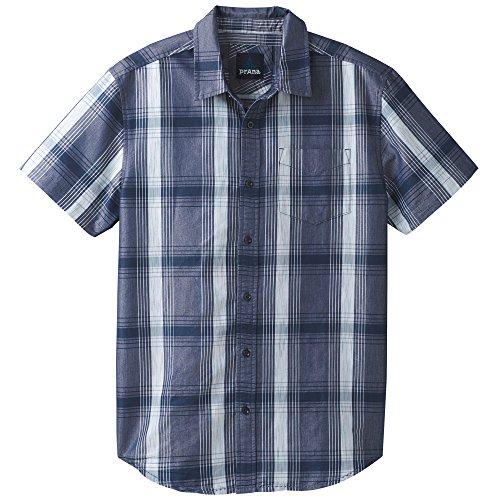 prAna Tamrack ss, Equinox Blue, XX-Large - Green Organic Woven Shirt