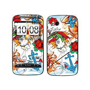 B 0065-0004-0052 pez con ancla Diabloskinz Skin para HTC Desire S