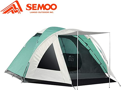 SEMOO 3 Person Camping Tents 4-Season Double Layers Lightweight Family Tent Easy Setup