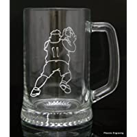 Personalised Engraved Tankard Gift, Rugby, Gift Box Included