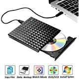 External DVD Drive for Laptop, Sibaok USB 3.0 Disc Drive, Slim Portable DVD-RW Writer Player CD Burner for PC Desktop Notebook Computer Windows XP/7/8/10 Linux Mac, Black