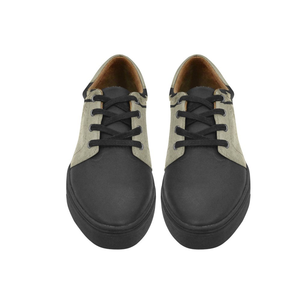 Lace Up Womens Shoes Wonderful Dancing Couple Womens Leather Fashion Sneakers