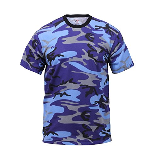 - Rothco T-Shirt/Electric Blue Camo, Small