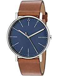 Skagen Mens SKW6355 Signatur Brown Leather Watch