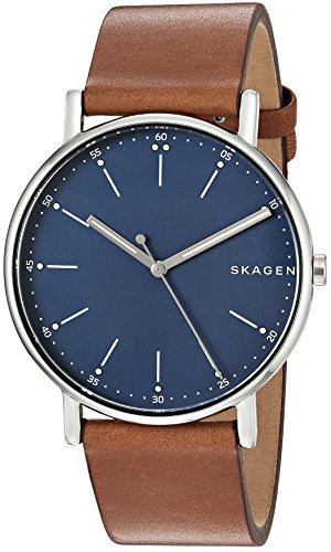Skagen Men's SKW6355 Signatur Brown Leather Watch