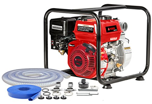 A-iPower AWP50 6.5HP 196cc 2 Inch Gas Engine Clear Water Pump Engine Gas Power Water Pump