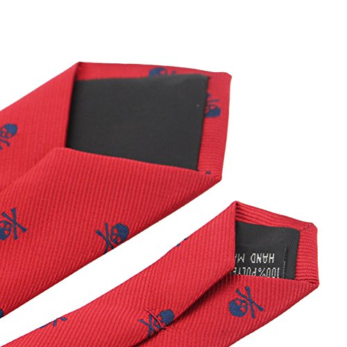 Casual Gift Slim Party LD17701 Suit Crossbones Skull Bluelans Tie Novel Men's Necktie Narrow 1f0AP