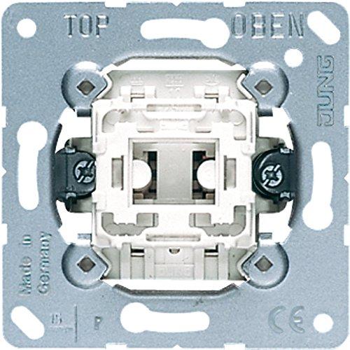 10 A, Met/álico, Blanco Accesorio cuchillo el/éctrico Blanco interruptor el/éctrico JUNG 507 U Met/álico