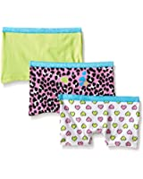 Fruit of the Loom Girls' Cotton Stretch Boyshort (Pack of 3)