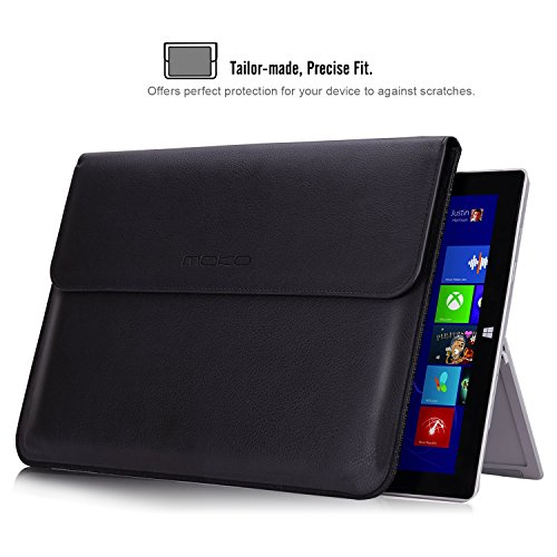 MoKo 13.5 Inch Sleeve Bag, PU Leather Protective PC Notebook Carrying Case Cover for Surface Laptop / Surface Book 13.5
