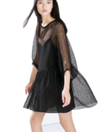 Zara Studio Lace Dress BNWT Black M