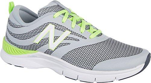 New Balance 713 Graphic Trainer, Zapatillas Deportivas para Interior para Mujer Gris/verde limón