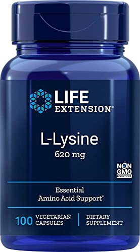 Life Extension L-Lysine 620 mg, 100 Vegetarian Caps