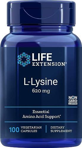 Life Extension L-Lysine 620 mg, 100 Vegetarian Caps