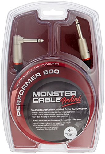 (Monster Performer 600 Instrument Cable - 3' Straight-Angle)