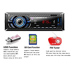 51CO4yjSylL. SS300  - Hoidokly-Car-Radio-with-Bluetooth-Hands-Free-Kit-4-x-60W-Digital-Media-Receivers-FM-USB-MP3-Media-Player-Wireless-Remote-Control-Included