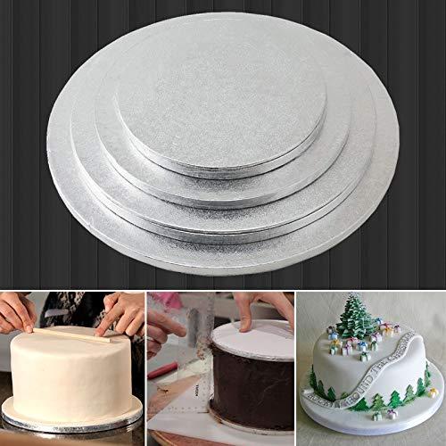 Loune ウィークケーキディスプレイスタンド 1ピース ラウンドケーキディスプレイボードスタンドホルダー 強力なベース 結婚式 誕生日パーティー イベント ホームベーカリー ケーキ ベーキングツール ベイクウェア 12インチ 12インチ   B07N8BYQHZ