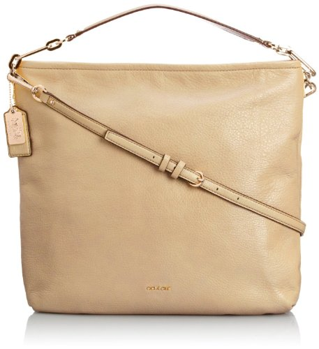 COACH Madison Leather Hobo Hobo Light Gold/Tan One Size