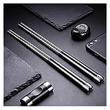 5 Pair Stainless Steel Chopsticks Gift Set Japanese Hotel Restaurant Chopsticks Set (Japan)
