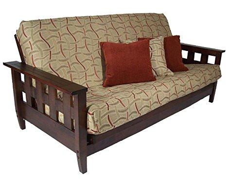 Lambton Dark Cherry Queen Wall Hugger Futon Frame by Strata Furniture by Strata Furniture