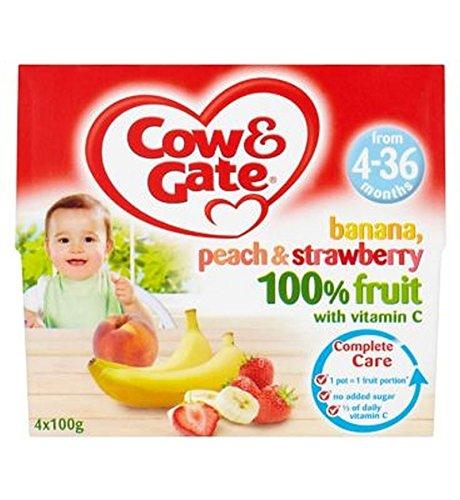 Cow & Gate Plátano, Melocotón Y Fresa 100% De Frutas Con Vitamina C De