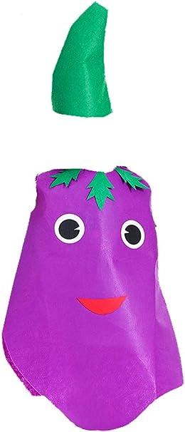 Black Temptation Accesorios de Vestuario DIY Traje de Fruta Verde Niños Muestran Disfraces (Berenjena): Amazon.es: Juguetes y juegos