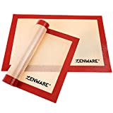 Zenware Professional Non Stick Silicone Baking Mat Cookie Sheet Liner - Set of 2