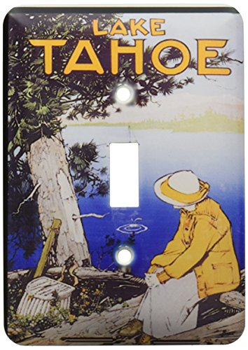 3dRose LLC lsp_151053_1 Vintage Lake Tahoe California Travel Poster Single Toggle Switch by 3dRose