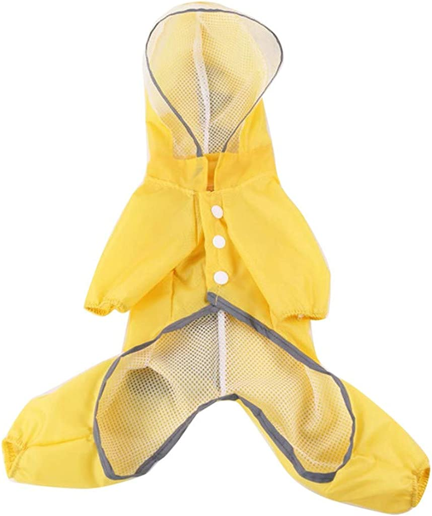 Leewos Cute Dog Costumes Waterproof Dog Raincoat with Hood Dinosaur Rain Coat for Pet Supplies