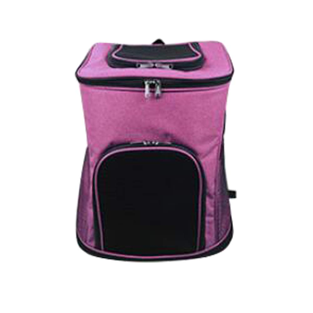 Pink L pink L DYYTR Puppy Kitten Carrier, Pet Backpack Comfortable And Durable Breathable Grid Portable Transport Adjustable Hands-Free Pet Travel Bag