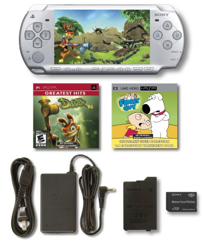 PlayStation Portable Limited Edition Daxter Entertainment Pack - Ice Silver by Sony