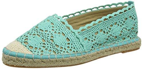 Buffalo 327675 Cotton, Women's Espadrilles Turquoise - Türkis (Turquoise 01)