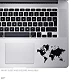 HVD World Map - Palm Rest Sticker Decal For MacBook Pro, PC, Laptop, Window, Car, or Wall
