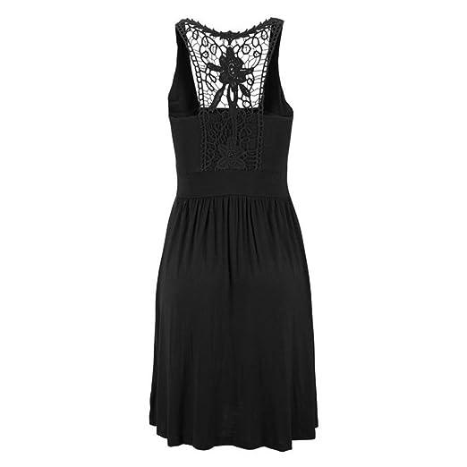 Womens Summer Dresses-Casual Solid Sleeveless Soft Tank Tunic Dresses 2018 New Style: Amazon.co.uk: Clothing