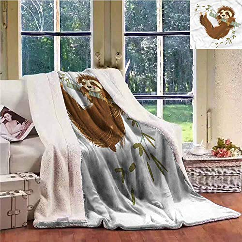 Cheap Sunnyhome Weighted Blanket Sloth Cheerful Animal on Tree Luxurious Plush Blanket W59x31L Black Friday & Cyber Monday 2019