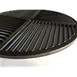 "Cast Iron Grate, Pre Seasoned, Non Stick Cooking Surface, Modular  Fits 22.5"" Grills"