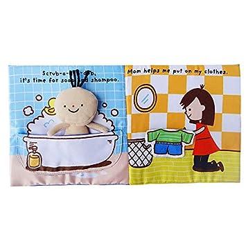 Kentop Stoffbuch Baby Tuch Buch Kinder Baden Fr/ühes Lernen P/ädagogische Spielbuch Baby Spielzeug Stoffbuch