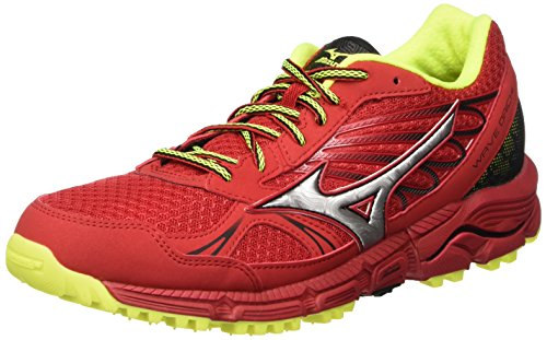 Mizuno Wave Daichi - Zapatillas de running Hombre rojo (ChineseRed/Silver/SafetyYellow)