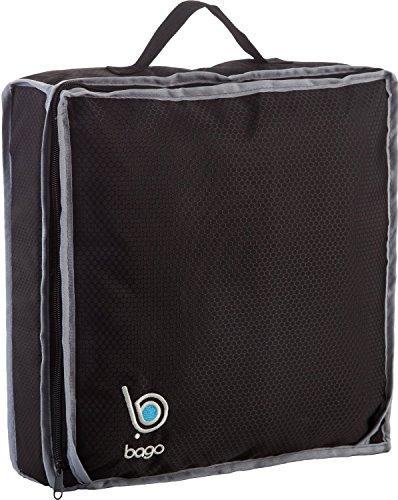 Bago Traveling Scarpe Bag - Adatto Per Due Coppie(Nero)